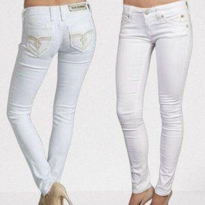 Rock Revival Sequin Pocket Heather Jeans